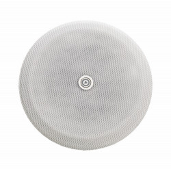 """P4284-01 - Grille en métal pour haut-parleurs 4 """" - ronde - blanc"""