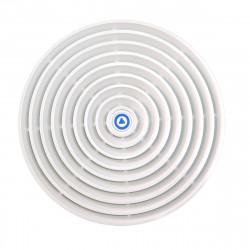 """P4281-01 - Kunststofrooster voor 4 """" luidspreker - rond -wit"""
