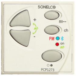 PCP1273-01 - Bedieningsunit met 1 stereokanaal + Bluetooth + FM-stereo - Wit - Afmetingen (b x h x d) 45 x 45 x 45 mm