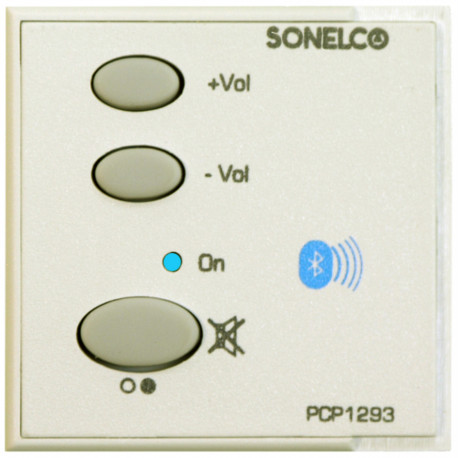PCP1293-01 - Bedieningsunit met Bluetooth - 2 x 1,5W - directe voeding 230 V - Wit