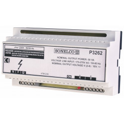 P3262 - 60 VA switched power supply. 230 V AC 50-60 Hz DIN rail
