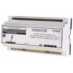 P3262 - Alimentation à découpage de 60 VA - 230 VAC 50-60 Hz rail DIN