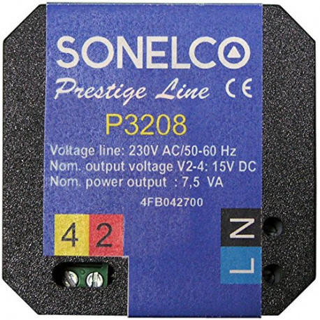 P3208 Power supply 7,5 VA - 230 VAC